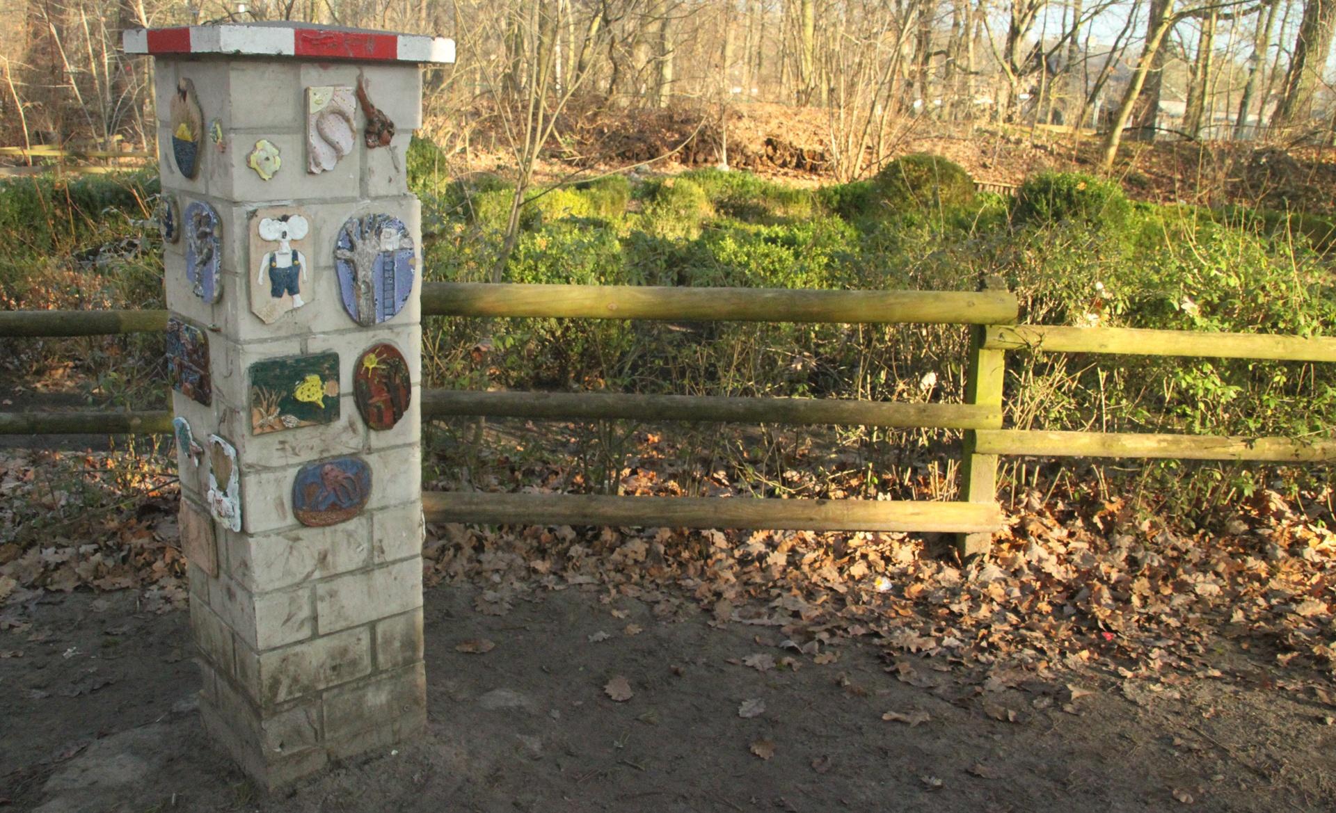 Zaun am Schulgarten
